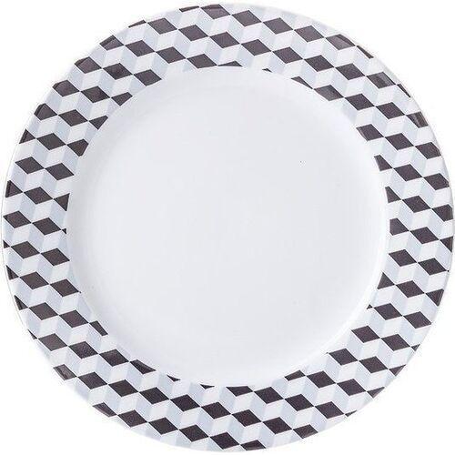 Talerz płaski Cosmopolitan 26 cm Mix & Match kubiki, 0061290X2G140