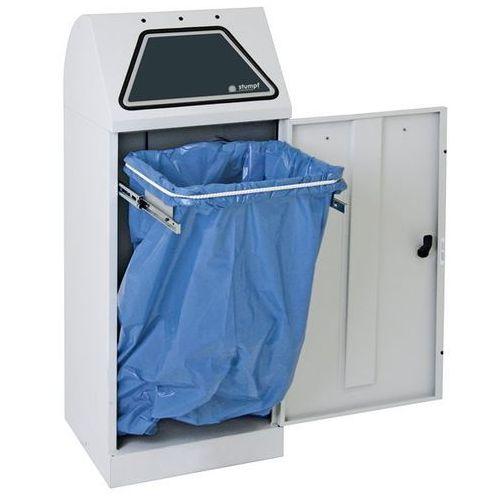 Systemowy pojemnik na surowce wtórne, klapa wrzutowa, uruchamiana ręcznie, z wys marki Stumpf-metall