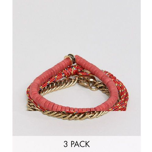 red combo bracelet in 3 pack - red marki Icon brand