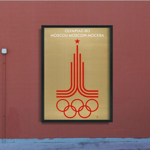 Vintageposteria.pl Plakaty w stylu retro plakaty w stylu retro plakat na moskiewskie igrzyska olimpijskie