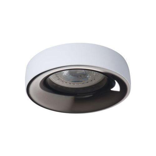 Kanlux Oczko halogenowe elnis 27805 lampa sufitowa wpuszczana downlight 1x35w gu10 / g5.3 białe / antracyt