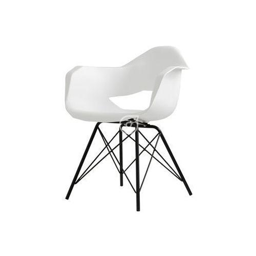 Krzesło match arms metal black-biały by marki Customform