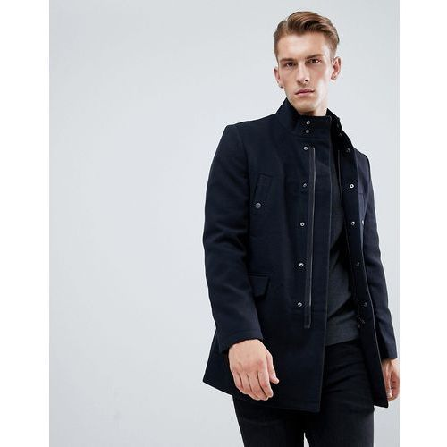 New look single breasted military jacket in dark navy - navy