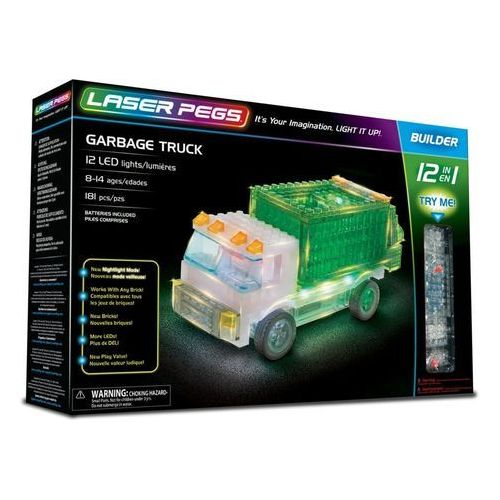 12 in 1 Garbage Truck - Laser Pegs