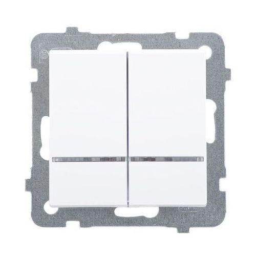 Włącznik podwójny z podświetleniem SONATA OSPEL (5907577446161)