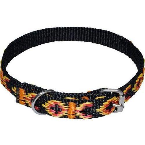 Chaba standard - ozdobna obroża dla psa o obwodzie szyi 33cm-39cm - 33cm-39cm \ czarny