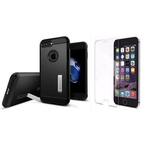 Zestaw | Spigen SGP Tough Armor Black | Obudowa + Szkło ochronne Perfect Glass dla modelu Apple iPhone 7 Plus