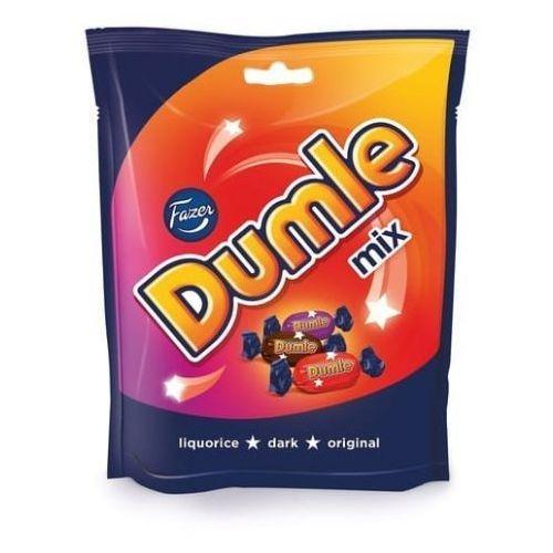 Fazer Dumle - mix - 3 smaki: original, dark, liquorice - 220g - z finlandii