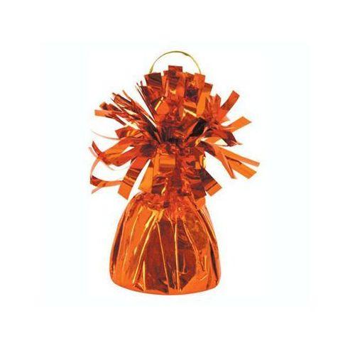 Obciążnik foliowy do balonów napełnionych helem - pomarańczowy - 176 g. marki Unique