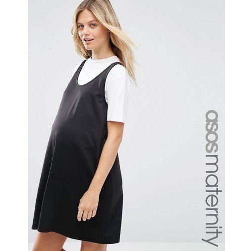 ASOS Maternity Pinafore Dress - Black, kolor czarny