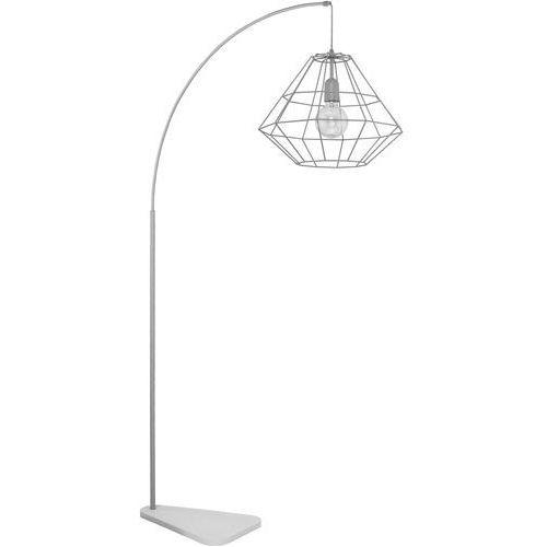 Tklighting Lampa druciana stojąca podłogowa diament tk lighting diamond 1x60w e27 szara 3009