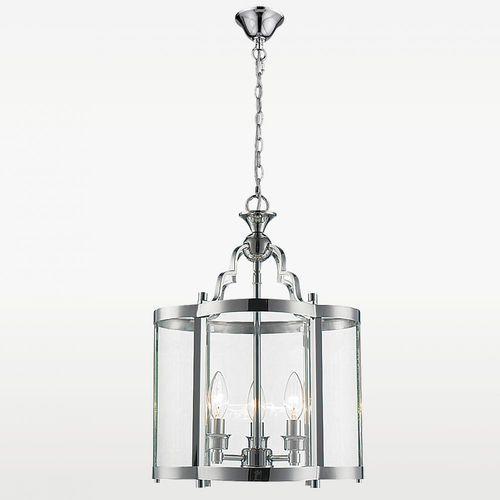 Lampa wisząca p03943ch szklana oprawa świecznikowy zwis na łańcuchu chrom przezroczysty marki Evo