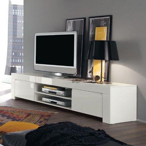 Amaretto biała włoska szafka rtv duża wysoki połysk marki Fato luxmeble