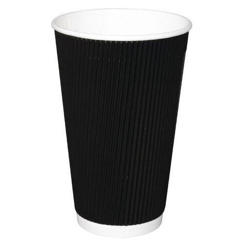 Kubki do kawy na wynos karbowane czarne Fiesta 455ml / 16oz