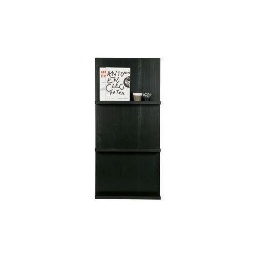 Woood wiszące półki pokazowe w kolorze czarnym - woood 350464-z