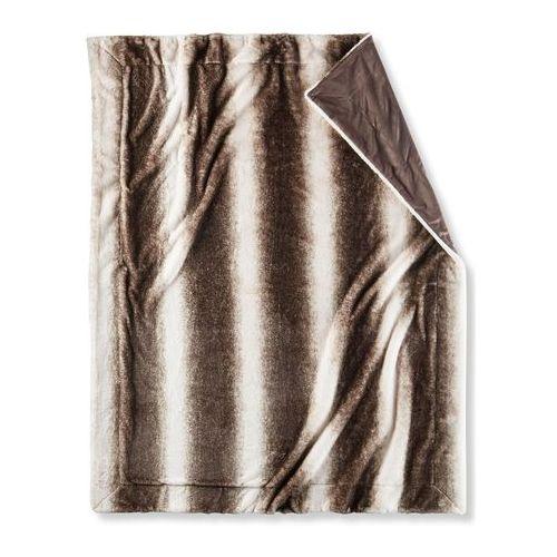 Miękki koc ze sztucznego futerka bonprix brązowy, kolor brązowy
