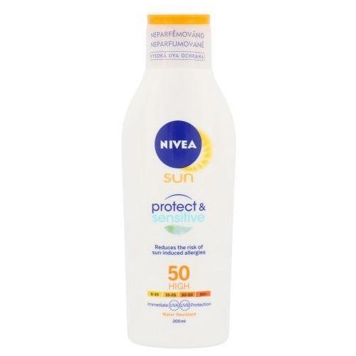 sun protect & sensitive sun lotion spf50 200ml w opalanie do skóry wrażliwej marki Nivea