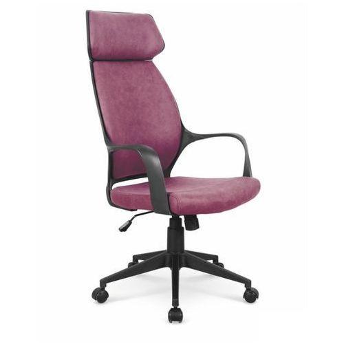 Fotel gabinetowy obrotowy photon - ciemny różowy marki Halmar