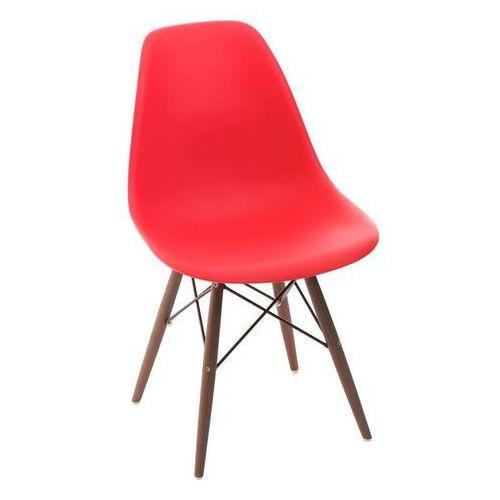 D2.design Krzesło p016w pp dark inspirowane dsw - czerwony (5902385704991)