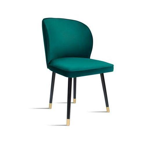 Krzesło RINO zielony/ noga czarny gold/ SO260