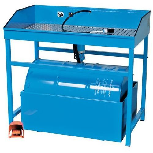 Unbekannt Profesjonalne, stojące urządzenie do czyszczenia małych elementów, do beczki 200