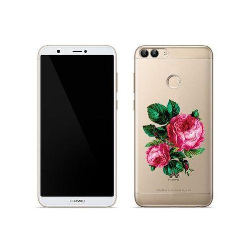 Huawei Enjoy 7S - etui na telefon Crystal Design - Czerwone róże, kolor czerwony