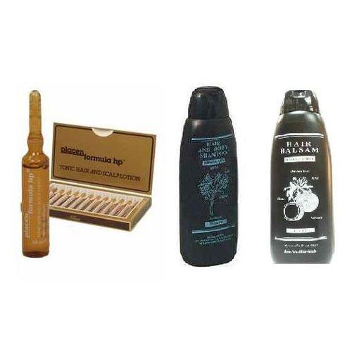Wt methode Zestaw wzmacniający włosy wt-methode placen 12x10ml + szampon oczyszczający azul + balsam kokosowy