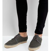 H By Hudson Exclusive for ASOS Lace Up Mesh Espadrilles - Grey