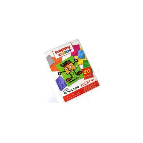Blok techniczny kolor A4 HAPPY COLOR 170g 20k, 5905130107009