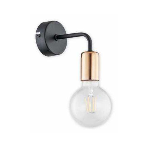 maris o2750 k1 cza + mie kinkiet lampa ścienna 1x60w e27 czarny mat / miedź marki Lemir