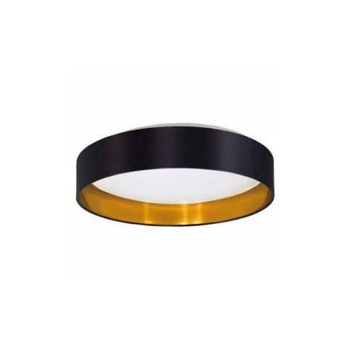 Plafon maserlo 31622 z abażurem 18w led czarny/złoty/biały + żarówka led za 1 zł gratis! >>> rabatujemy do 20% każde zamówienie!!! - wysyłka w 2 marki Eglo