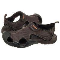 Crocs Sandały swiftwater sandal m espresso 15041-22z (cr110-d)