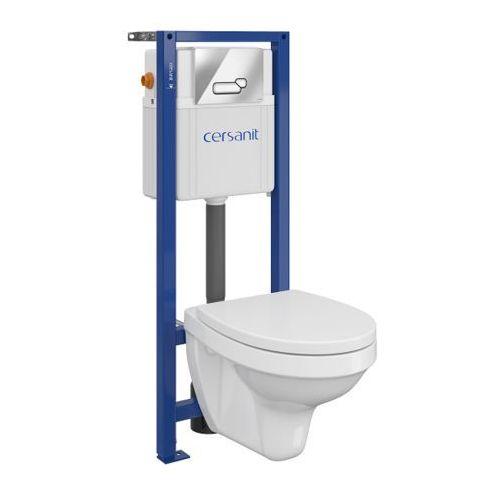 Zestaw podtynkowy WC Cersanit Inteo z deską wolnoopadającą przycisk chrom, SZWZ1002062898