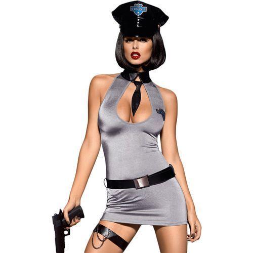 Obsessive Przebranie policjantki sukienka  police dress costume s/m