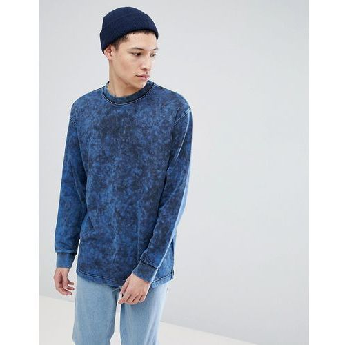 Weekday radical acid washed sweatshirt - blue