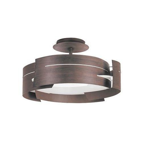 Plafon lampa sufitowa Rabalux Berbera 3x60W E27 wenge 2216, kolor Brązowy