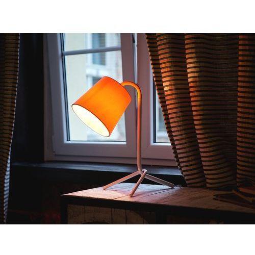 Beliani Lampa biurowa biała - stołowa - nocna - gabinetowa - mooki