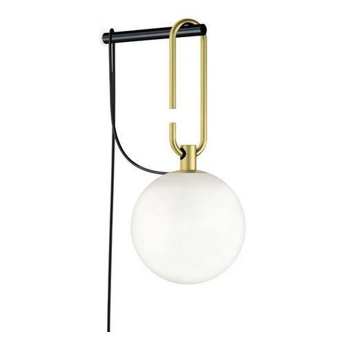 Nh w-kinkiet led szkło i metal z przełącznikiem na kablu Ø15cm marki Artemide