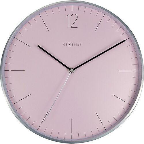 Zegar ścienny essential silver różowy, kolor szary