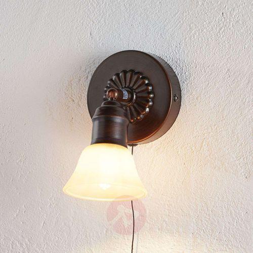 Kinkiet alamo 89057 lampa oprawa ścienna 1x40w g9 ciemny brąz marki Eglo