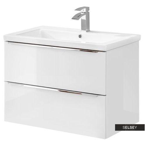 SELSEY Szafka pod umywalkę Ursala 80 cm biała (5903025398563)