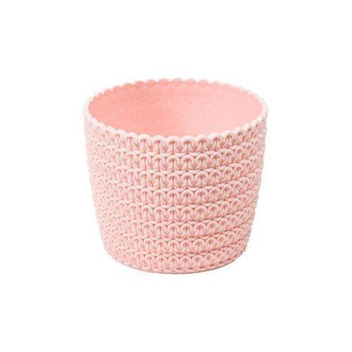 Osłonka plastikowa 14 cm różowa MAGNOLIA