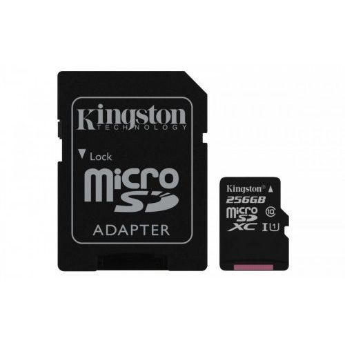 Kingston microSD 256GB Canvas Select 80/10MB/s adapter