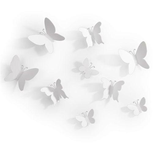Dekoracja ścienna mariposa white 9 elementów marki Umbra