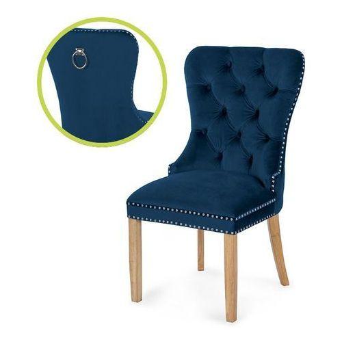 krzesło MADAME II niebieski/dąb BL86