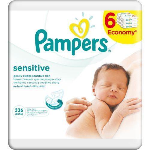 Chusteczki nawilżane PAMPERS Sensitive (6 x 56 sztuk) (4015400636748). Najniższe ceny, najlepsze promocje w sklepach, opinie.