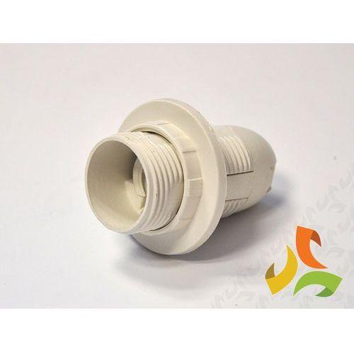 Oprawka E14 termoplastyczna z kołnierzem biała, gniazdo żarówki D.3027B PAWBOL (5907484338467)