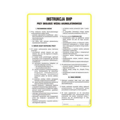 Top design Instrukcja bhp przy obsłudze wózka akumulatorowego
