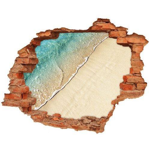 Wallmuralia.pl Dziura 3d w ścianie naklejka fala na plaży