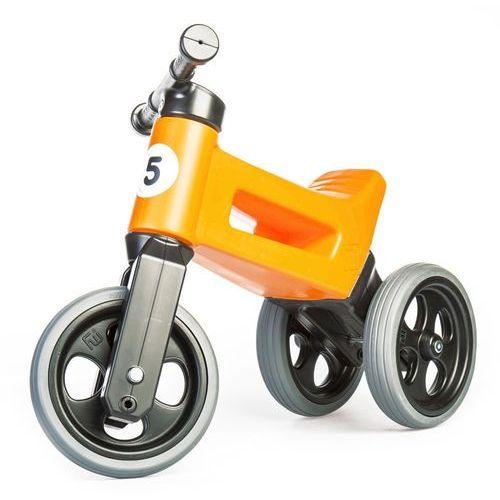 Rowerek biegowy dla dzieci rider sport 2w1, srebrno-szary marki Funny wheels